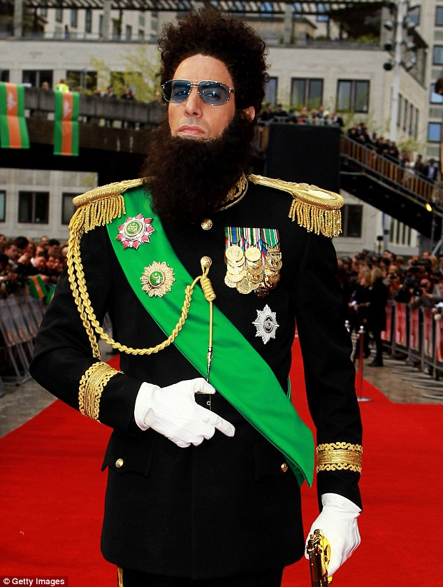 Distinctive: Cohen's alter egos include  Admiral General Aladeen from The Dictator