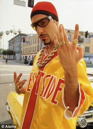 Changing roles: He is almost famous for playing Ali G (left) and Borat