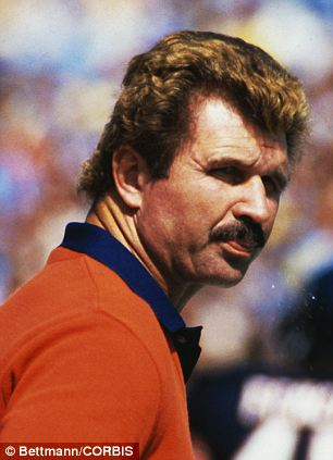 Well-versed: Ditka is one of two people in NFL history to win a title as a player, assistant coach, and head coach (seen at left in 1963 and at right in 1982 as coach)
