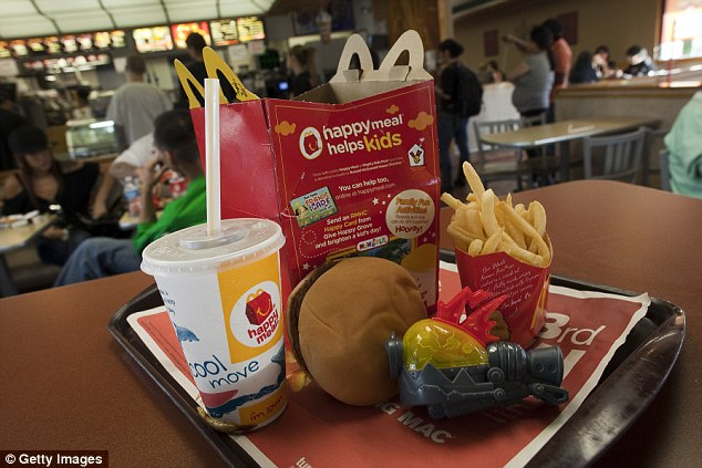 The Happy Meal is changing: The toy will be replaced by a book (for two weeks in November), the fries with salad or fruit and the soda with milk, water or juice