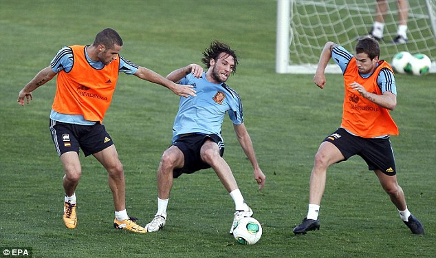 Starting: Aspas has seen Swansea striker Michu called into the Spain squad