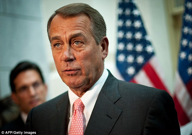 Peace offering: House Speaker John Boehner offered to increase the debt ceiling after weeks of battles with Democrats in Congress and the White House