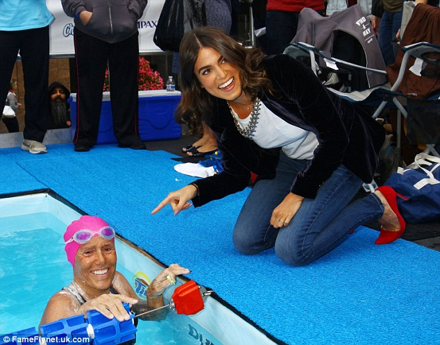 Big fans: Several celebrities stopped by to support Nyad during the Marathon event, including Twilight star Nikki Reed, above