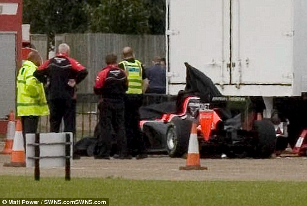 Horror crash: Maria De Villota collided with a lorry at the Duxford Aerodrome last year