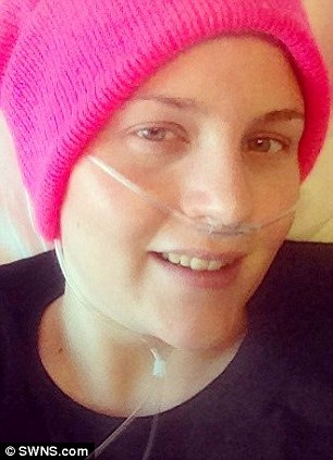 Laura, pictured in hospital whist recovering from treatment for her cancer, wants to help raise awareness about the disease and help readers find helpful hints and tips on how to cope with the 'obstacles fighting the big C can throw at you'