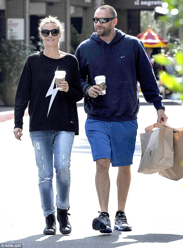 Just the two of us! Heidi Klum takes a break from her four children to spend the day with boyfriend Martin Kristen