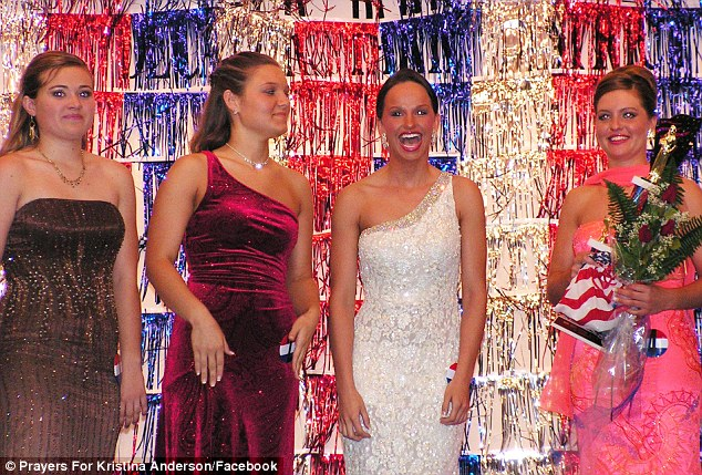 Winning attitude: Kristina, pictured at a 2006 pageant, has been praised for her positive outlook