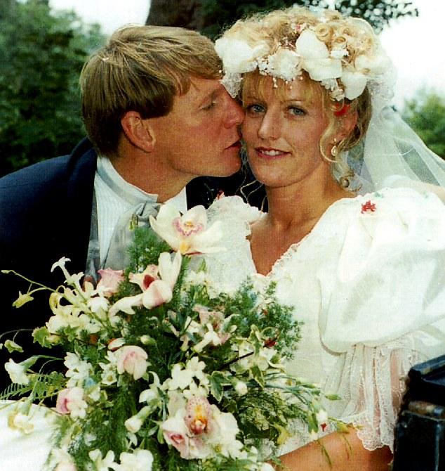 Break-up: Stuart Pearce, pictured on his wedding day to Liz