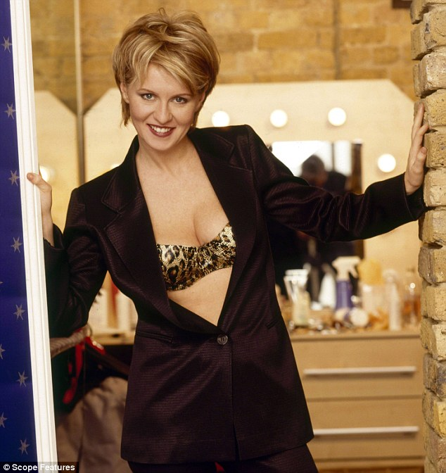 Wild side: Esther McVey strikes a pose in this 199 photo shoot