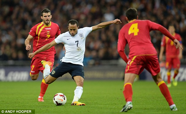 Stunner: Andros Townsend scored an excellent goal on his England debut