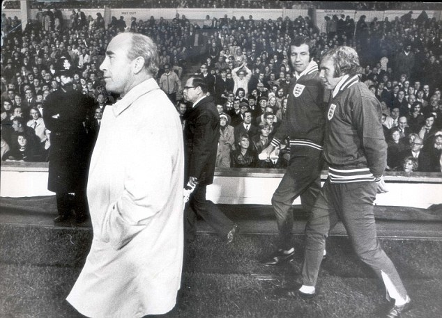 Axed: The draw also cost World Cup winning England manager Sir Alf Ramsey his job