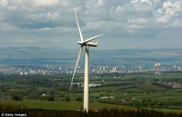 Subsidies: Government levies help pay for, among other things, wind farms