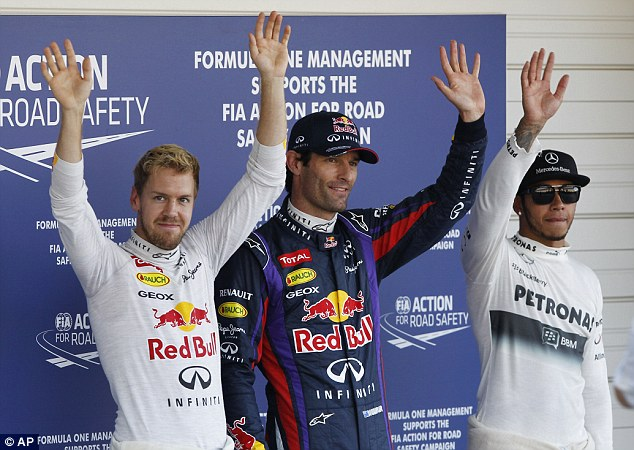 Man to beat: Mark Webber secured his first pole position of the season