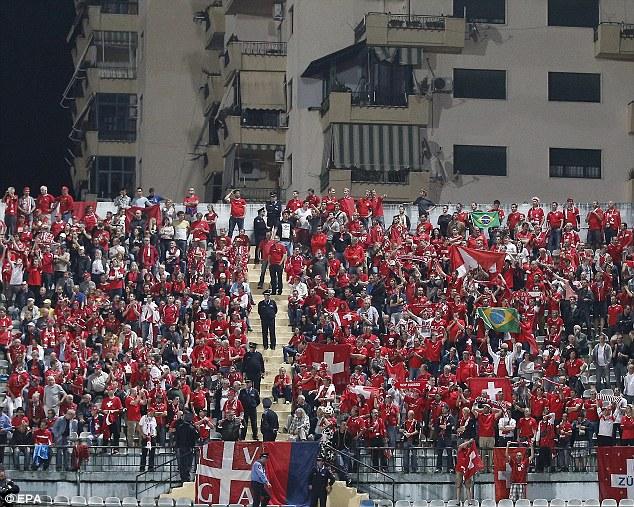 Brazil bound: Switzerland's loyal following in Albania on Friday night