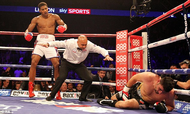 Power puncher: Joshua needed less than a round to stop Emanuele Leo