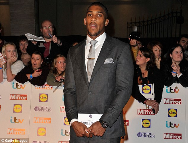 Tough test: But there are exceptionally high hopes for heavyweight Anthony Joshua