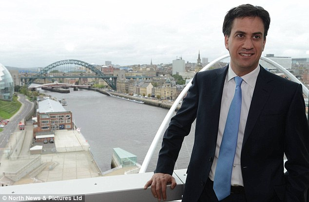 'Red' Ed: Mr Miliband, pictured, has played down his party's 'lurch to the Left' - but the message does not seem to have reached Mr Newman