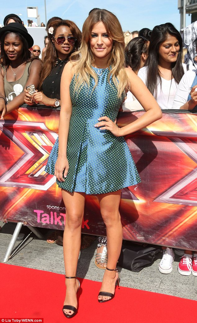 Fresh face: Caroline Flack has made the step up to the ITV1 flagship show
