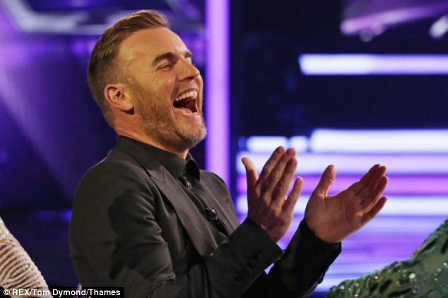 Having a great time: Barlow seemed to be very relaxed and enjoying the first of the live shows