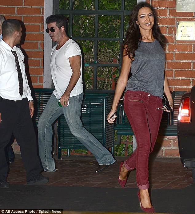 Playing it cool: Simon was recently seen celebrating his birthday with his ex flame Terri Seymour