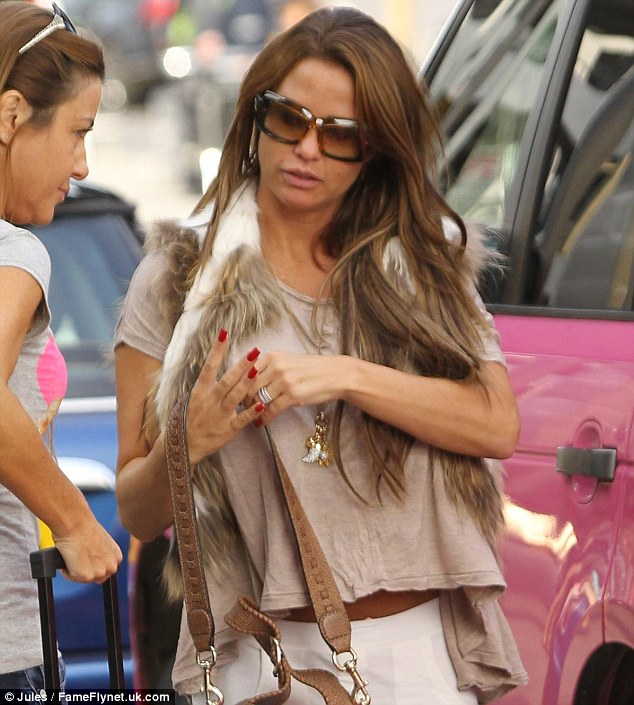 Opening up: Katie Price has opened up her relationship with Danny Cirpriani in her new book which is being serialised by The Sun