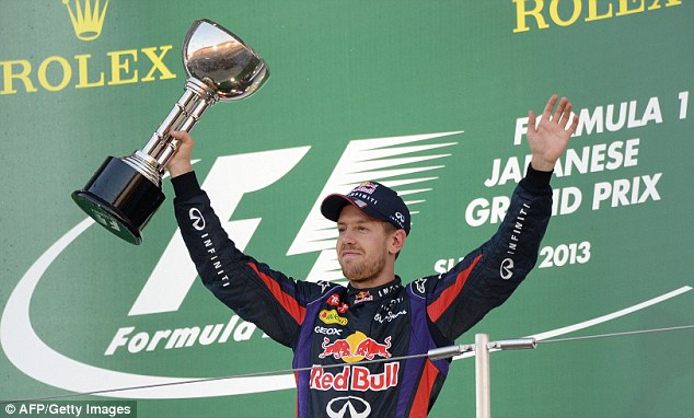 Unstoppable: Sebastian Vettel took his ninth race win of the season and his fifth in a row