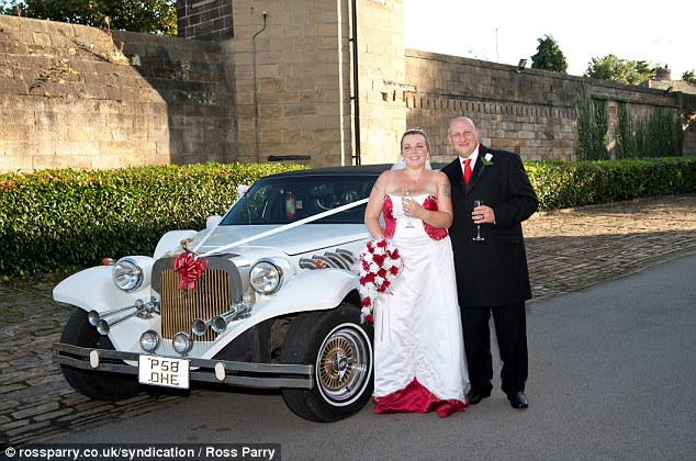 The couple, who set up an online donation page to encourage contributions, tied the knot in Sheffield in September
