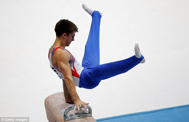 Hard routine: Whitlock won the World Championship silver on the pommel in Antwerp, Belgium