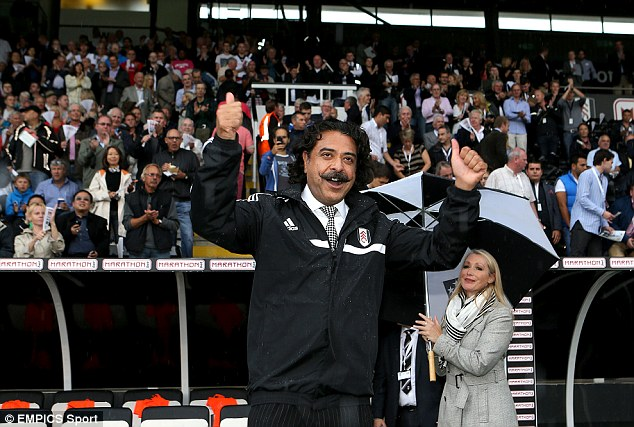 New man in charge: Chairman Khan attended Fulham's defeat to Arsenal earlier this season