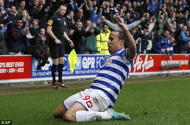 Been around the houses: Townsend's path to the limelight has included several loan spells (pictured at QPR)