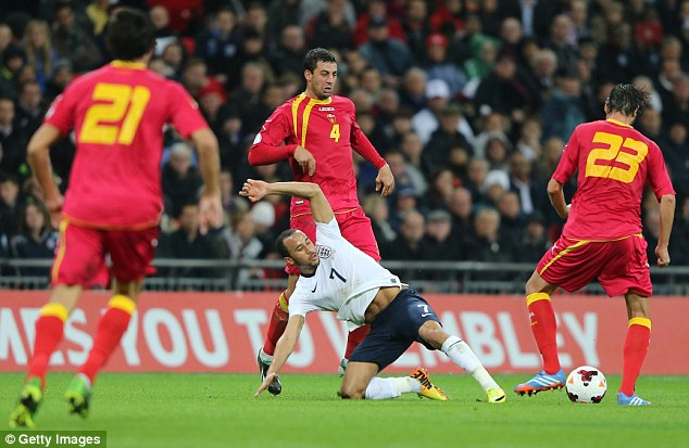 Hard graft: Townsend also worked hard throughout the game and was given plaudits for it