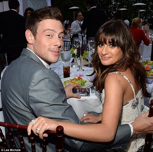 For a good cause: Lea Michele posted a photo of herself and Cory to her Instagram page on Thursday, asking fans to support charity organization ChrysalisLA