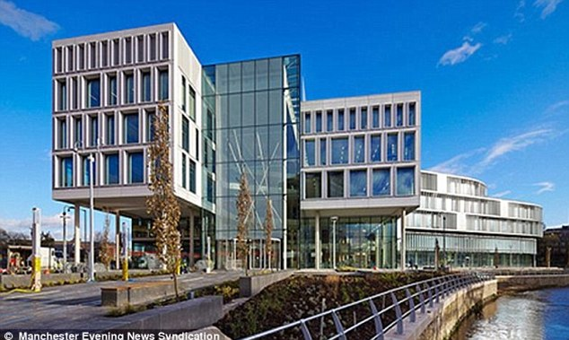 Hard-up: Rochdale Council, whose £50million new offices are pictured, presides over some of the worst poverty in the UK
