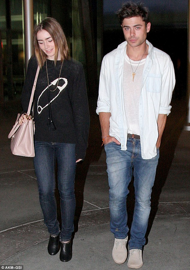 Friday night at the movies: Zac Efron looked healthy as he took Lily Collins to see a film in Hollywood