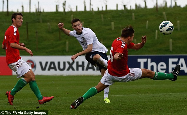 Promising future: Middlesbrough's Fewster also helped himself to two goals against the Hungarians