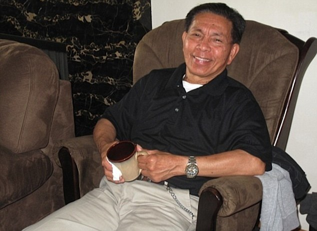 Safe and warm: Gene Penaflor, 72, was located Saturday morning -- approximately 3.25 miles from where he went missing -- by a group of hunters at the bottom of a canyon