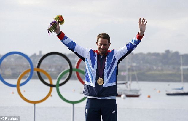 British hero: Ainsle won gold at the London Olympics last year, his fourth in a stellar career