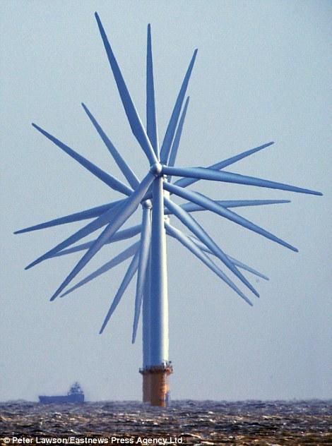 Turbines, off the coast of Clacton, Essex