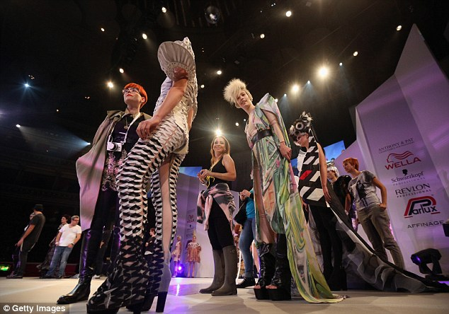Big vision: Models whose stylists are competing in the 'Visionary Award' take the stage
