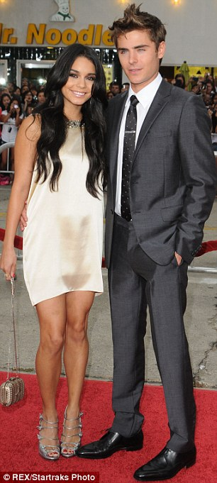 Their last serious relationships: Zac split with Vanessa Hudgens (left) in 2010 after having dated for four years while Lily spent time with Jamie Campbell Bower (right) this summer