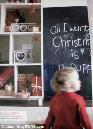 Boycott: Some shoppers said they had abandoned the store over the image which features a child with a blackboard message reading 'All I want for Christmas is a puppy'