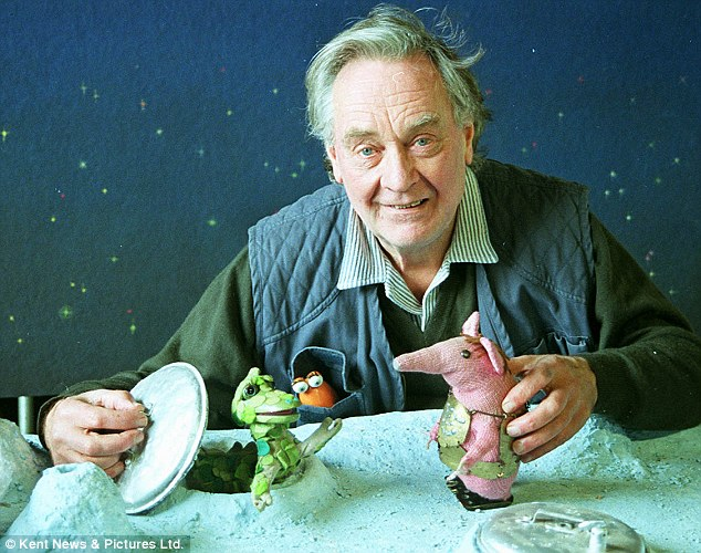 Oliver Postgate with The Clangers - he died at a nursing home in Broadstairs, Kent, in December 2008