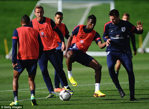 Big season ahead: Zaha's exclusion from the United first-team could see him miss out on the 2014 World Cup with the senior England squad
