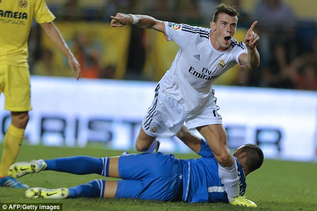 Making his point: Gareth Bale looks set to return to action for Real Madrid against Malaga on Saturday