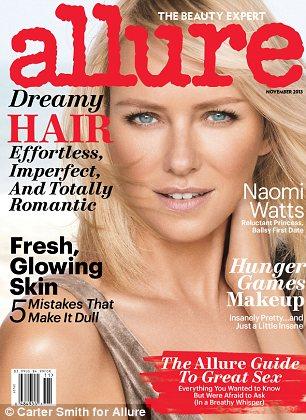 Cover girl: Naomi graces the cover of Allure magazine