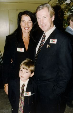 Family: Guy Edwards, former racing driver, now director of Marketing for the Lotus Formula One Motor Racing team. Pictured with his wife Daphne and their son Sean.