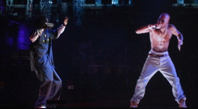 The 2012 Coachella Festival in California used a hologram of the deceased rapper Tupac Shakur for a performance with Snoop Dogg