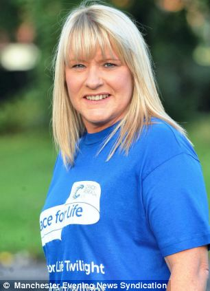 After 15 sessions of radiotherapy, she has been told the cancer is no longer present - and is now fundraising for cancer charities