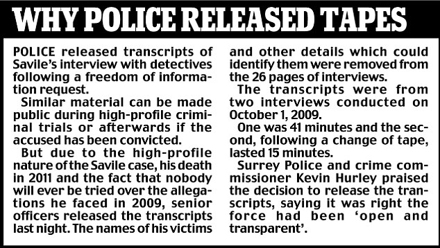 Police tapes released following FoI request