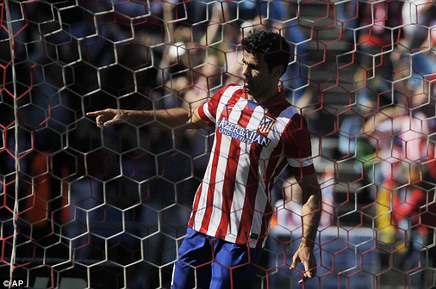 Wanted: Athletico Madrid's Diego Costa has been called up to play for Spain's National team.